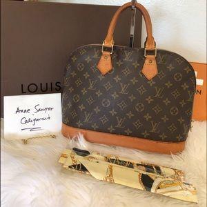 Authentic vintage LV alma hand bag